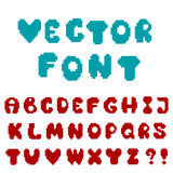Vector embroidered letters Royalty Free Stock Photography