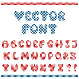 Vector embroidered letters Royalty Free Stock Images