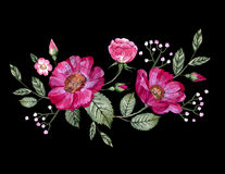 Vector embroidery with flowers Stock Photography