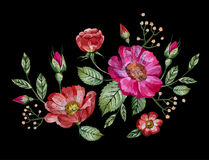 Free Vector Embroidery With Flowers Stock Photo - 94805010