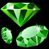 Vector emerald. Vector emerald isolated on black Royalty Free Stock Photography