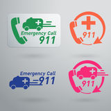 Vector emergency service icons Royalty Free Stock Photos