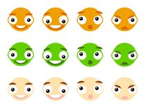 Vector emoticon Stock Image