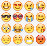 Vector emoticons collection Stock Photography