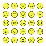 Vector emoticons expressions Stock Images