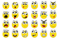 Vector Emoticons Stock Photography