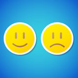 Vector emoticons stickers Stock Photo
