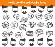 Vector emotion face icons Stock Image