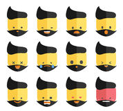 Vector emotion face icons Royalty Free Stock Photo