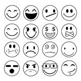 Vector emotional face icons Royalty Free Stock Photography
