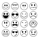 Vector emotional face icons Stock Photos