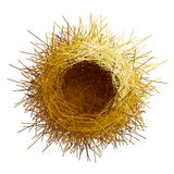 Vector empty birds nest. Top view. Eps8. RGB Global colors Royalty Free Stock Photography