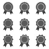 Vector - empty black stickers Stock Photography
