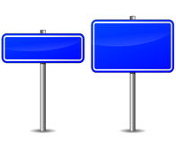 Vector empty blue signs Royalty Free Stock Photography