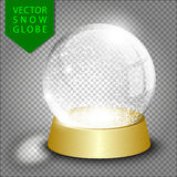 Vector Empty Christmas Snow Globe Royalty Free Stock Images