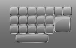 Vector empty glass keyboard Royalty Free Stock Images