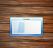 Vector empty id card Royalty Free Stock Image