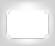 Vector empty photo frame. Realistic cut, takes the background color Royalty Free Stock Photo