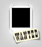 Vector empty photo frame. Wanted. Vector empty photo frame. This is file of EPS10 format Stock Image