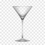 Vector Empty Realistic Glass Stock Image