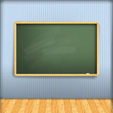 Vector: empty school blackboard Royalty Free Stock Photography