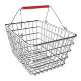 Vector empty shopping basket. On white background vector illustration