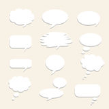 Vector Empty Speech bubble with grey shadow. For text communication. Stock Images