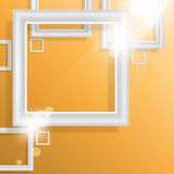 Vector empty square frame elements background Stock Image