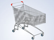 Vector empty supermarket cart Royalty Free Stock Image