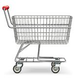 Vector Empty Supermarket Cart. On white background Stock Photo