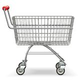 Vector Empty Supermarket Trolley. Isolated on white background Stock Photography