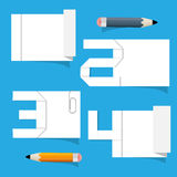 Vector Empty White Paper Sheet Stock Photography