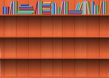 Vector Empty wood shelf. Stock Photo