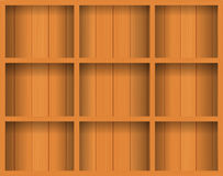 Vector Empty wood shelf. Royalty Free Stock Photos