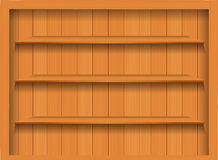 Vector Empty wood shelf. Royalty Free Stock Photography