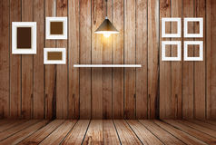 Vector empty wooden room Royalty Free Stock Photography