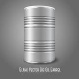 Vector en blanco barril de aceite grande aislado en gris con Fotos de archivo