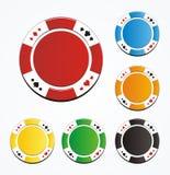 Vector en blanco de las fichas de póker Foto de archivo libre de regalías