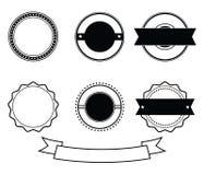 Vector en blanco negro del sello del emblema de la insignia del aniversario Imagen de archivo