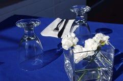 Vector en el restaurante griego Imagen de archivo