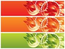Vector encabeçamentos do Web site Fotografia de Stock Royalty Free