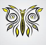 Vector encantador del tatuaje de la mariposa imagen de archivo