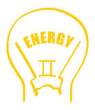 Vector energy. An illustration of a glass light bulb Royalty Free Stock Images