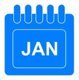 Vector enero en icono mensual del calendario ilustración del vector