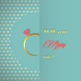 Vector engagement card Royalty Free Stock Photos