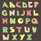 Vector Engels alfabet, jonge geitjestype Stock Afbeeldingen