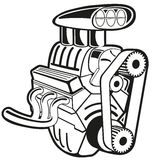 Vector Engine. Vector illustration of the engine. Clip art Stock Photos