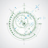 Vector engineering technological background, futuristic technica Royalty Free Stock Images