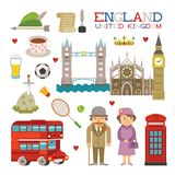 Vector England flat style art for travel and tourism Stock Photo