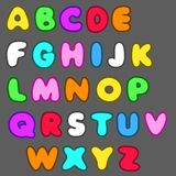Vector english alphabet in cartoon style Royalty Free Stock Photo